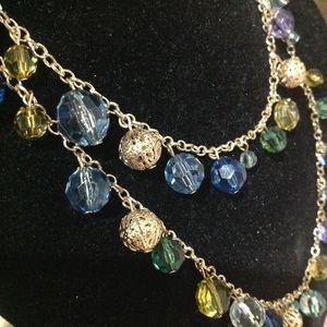 Double wrap multiple color necklace